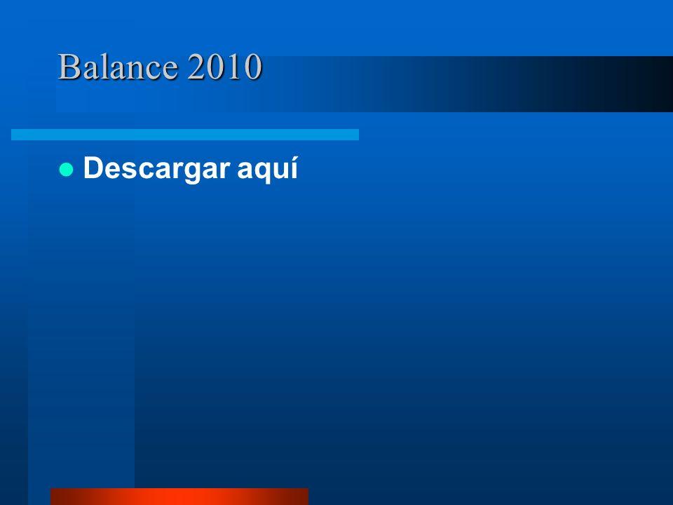 Balance 2010 Descargar aquí