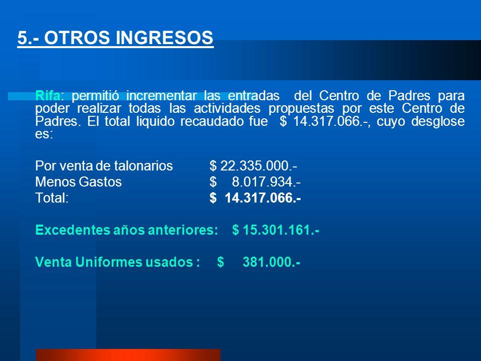 5.- OTROS INGRESOS