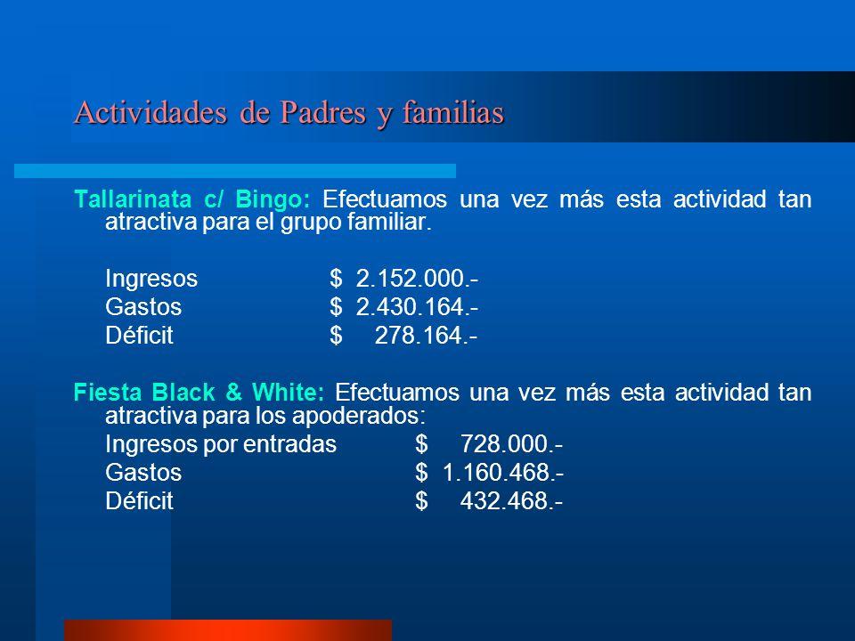 Actividades de Padres y familias