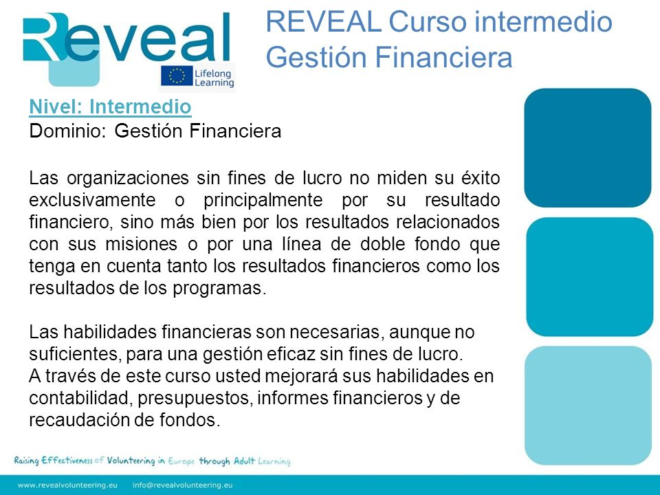 REVEAL Curso intermedio Gestión Financiera