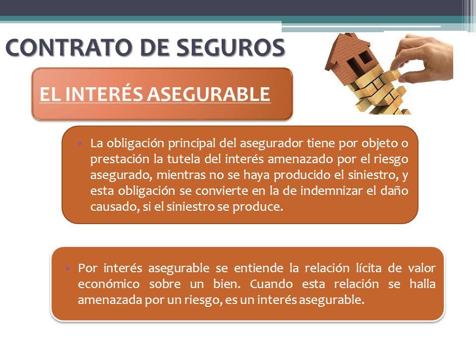 CONTRATO DE SEGUROS EL INTERÉS ASEGURABLE