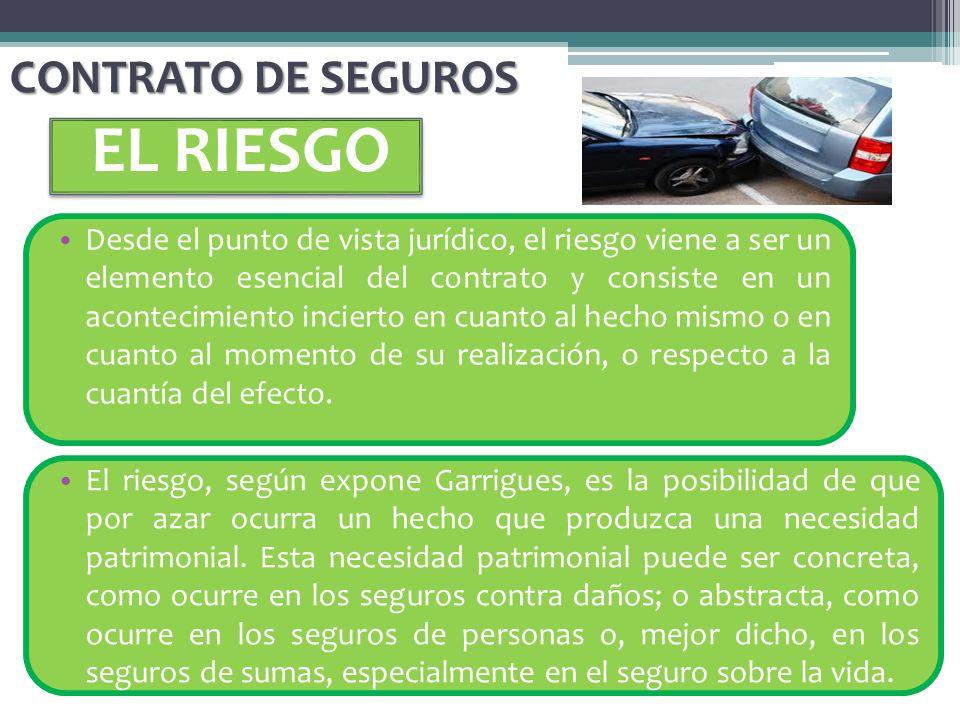 EL RIESGO CONTRATO DE SEGUROS