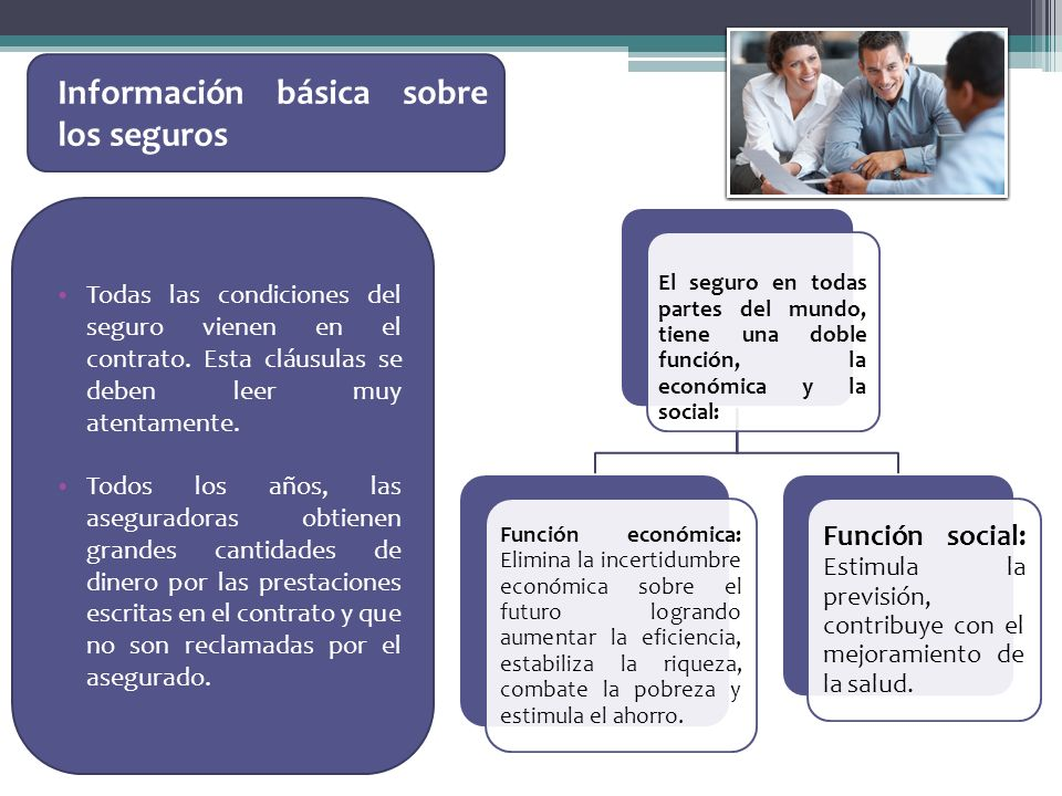 Información básica sobre los seguros