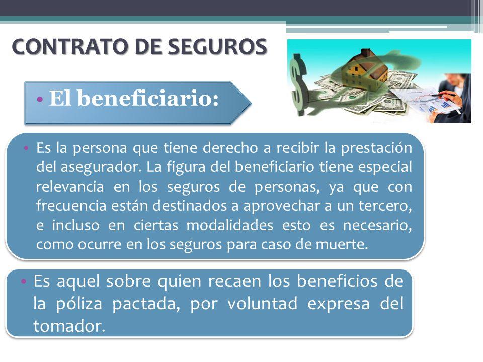 CONTRATO DE SEGUROS El beneficiario: