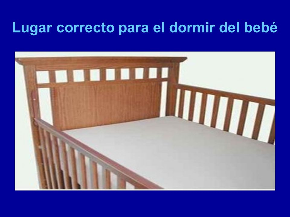 Lugar correcto para el dormir del bebé