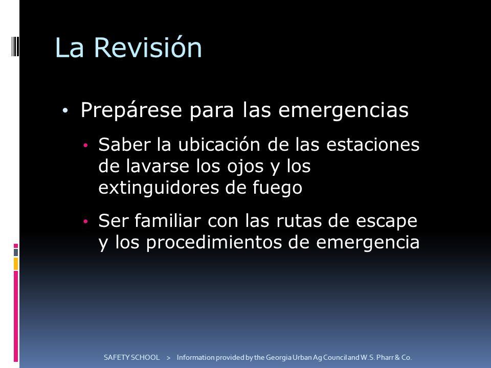 La Revisión Prepárese para las emergencias