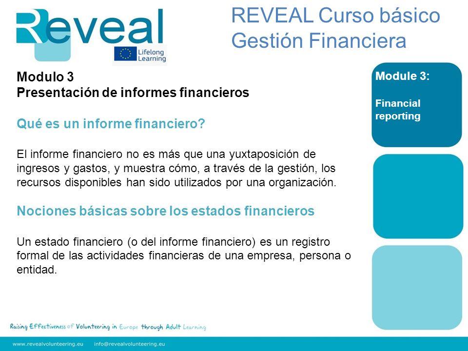 REVEAL Curso básico Gestión Financiera Modulo 3