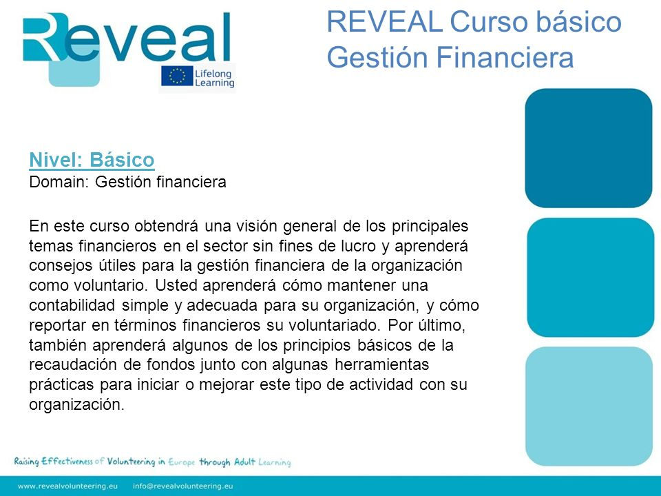 REVEAL Curso básico Gestión Financiera Nivel: Básico
