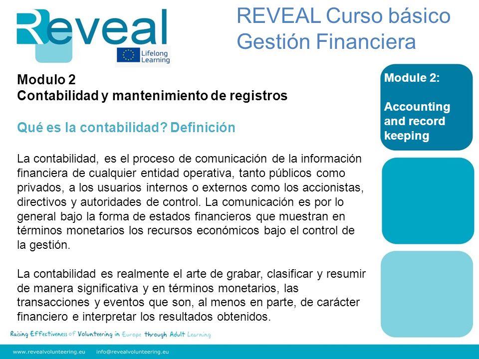 REVEAL Curso básico Gestión Financiera Modulo 2