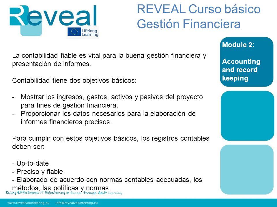 REVEAL Curso básico Gestión Financiera Module 2:
