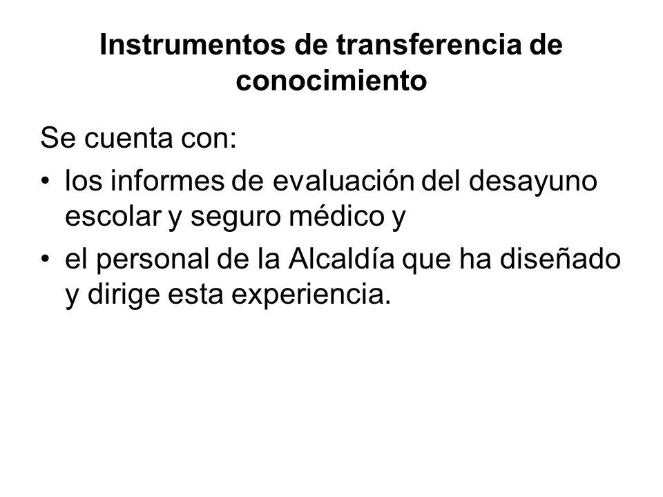 Instrumentos de transferencia de conocimiento