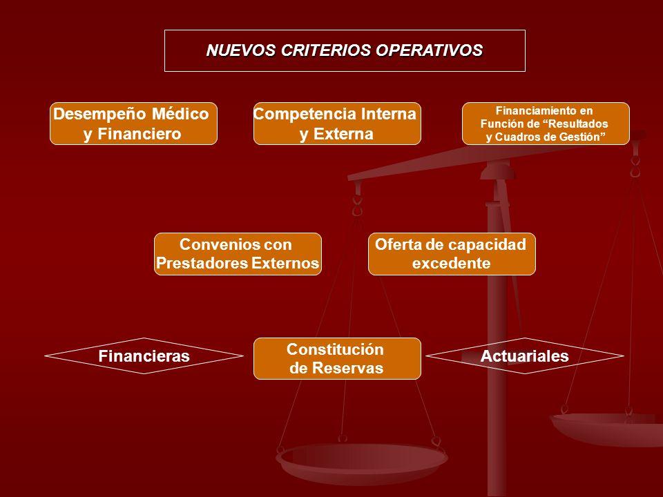 NUEVOS CRITERIOS OPERATIVOS Función de Resultados