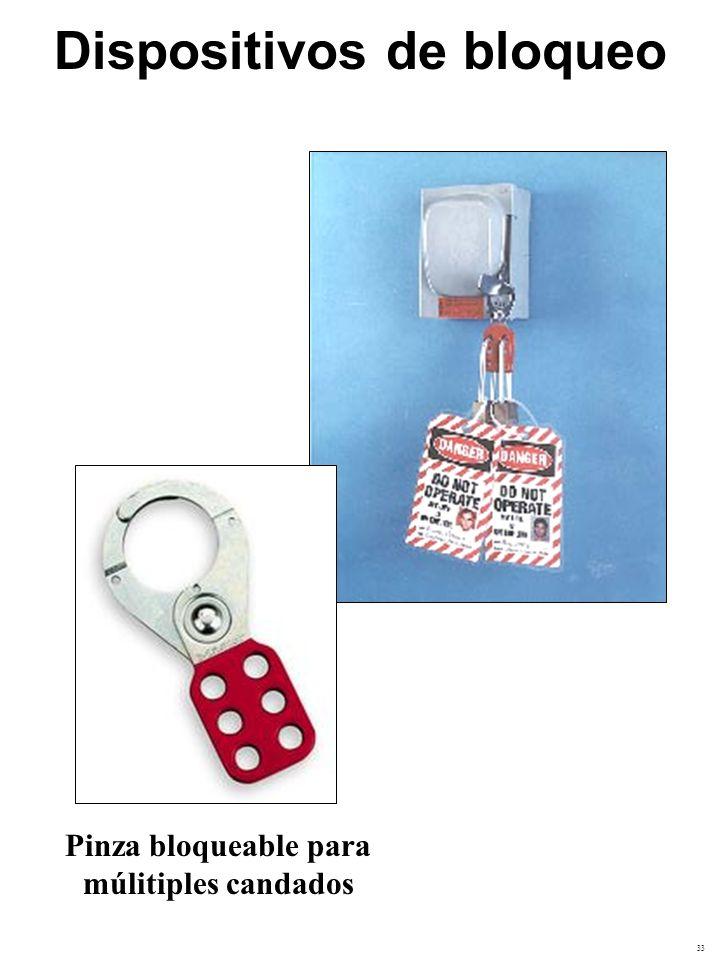 Dispositivos de bloqueo Pinza bloqueable para múlitiples candados