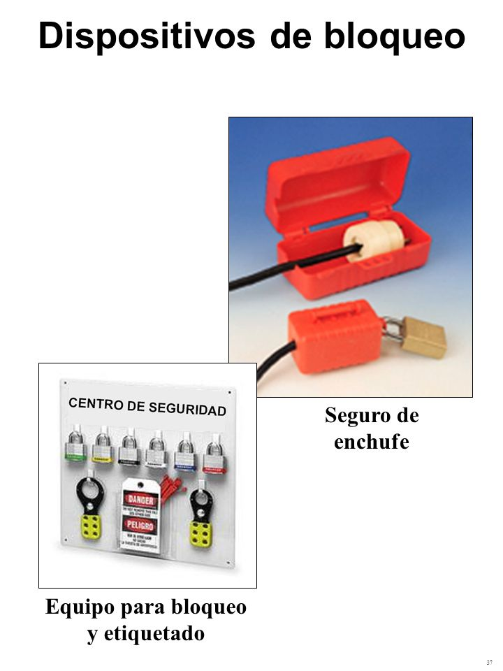 Dispositivos de bloqueo Equipo para bloqueo y etiquetado