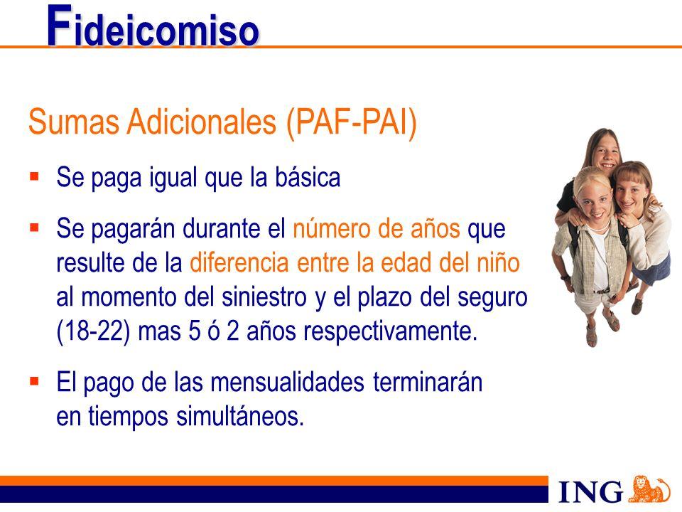 Fideicomiso Sumas Adicionales (PAF-PAI) Se paga igual que la básica