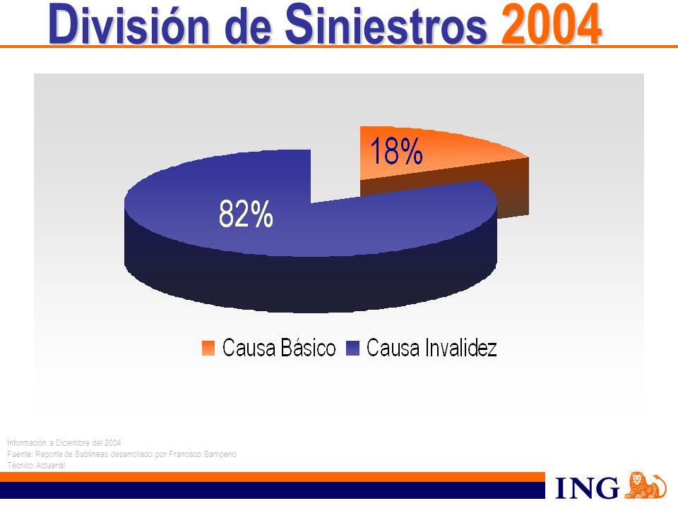 División de Siniestros 2004