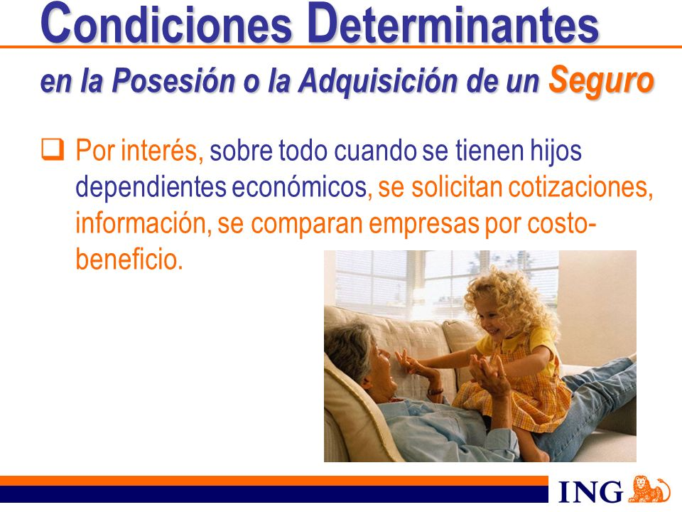 Condiciones Determinantes en la Posesión o la Adquisición de un Seguro