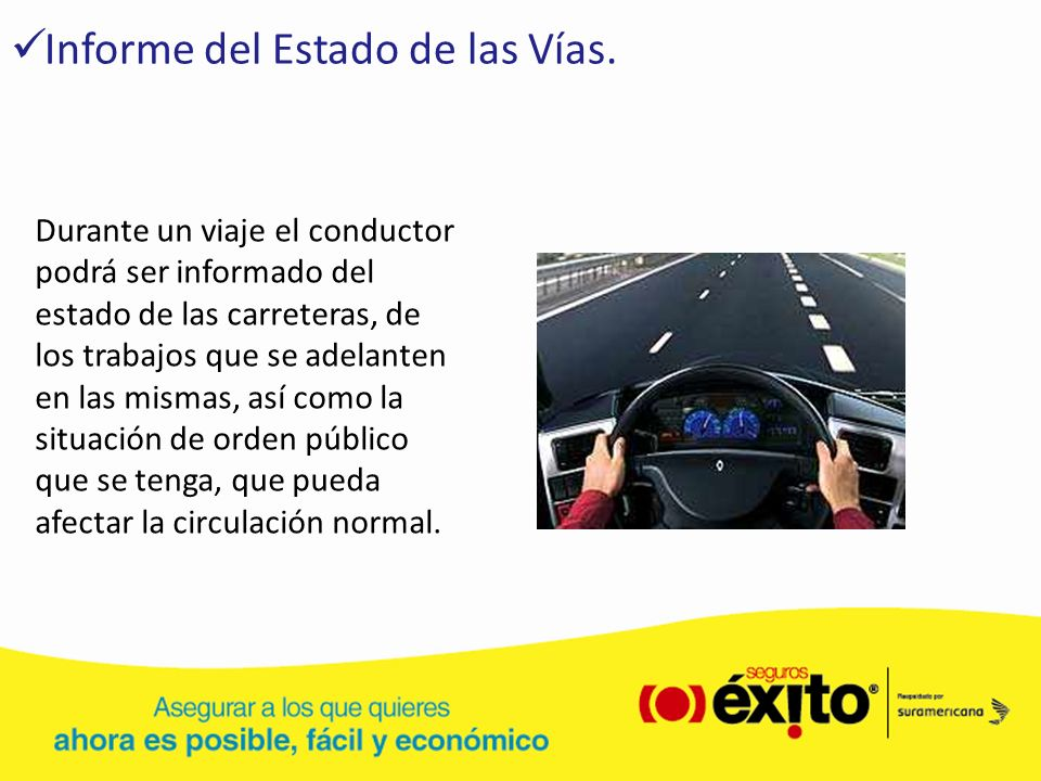 Informe del Estado de las Vías.