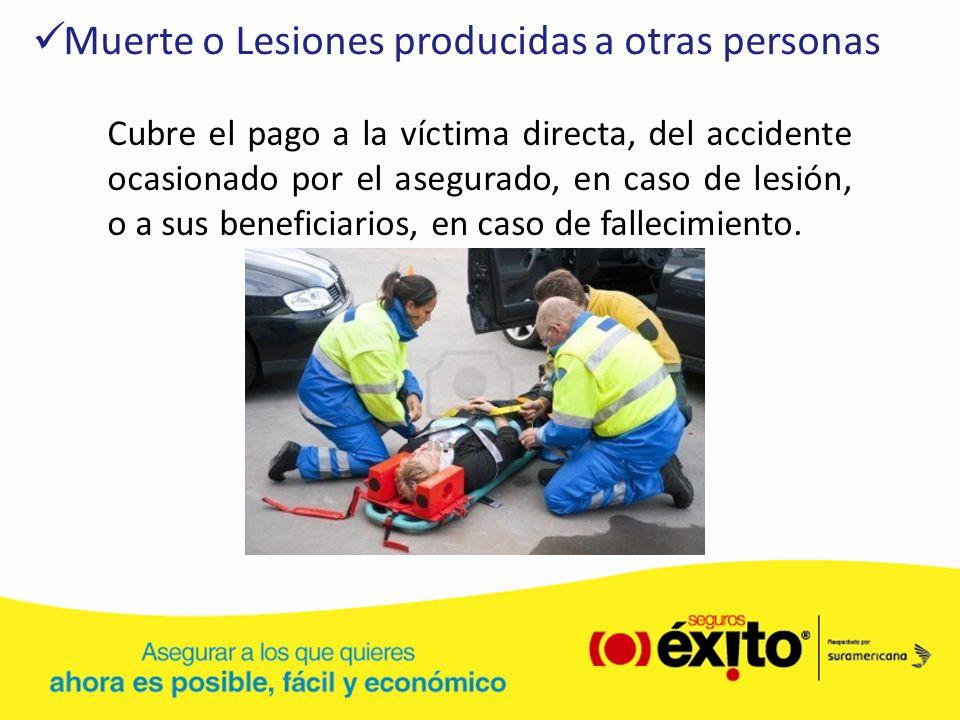 Muerte o Lesiones producidas a otras personas
