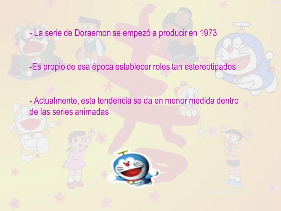 - La serie de Doraemon se empezó a producir en 1973