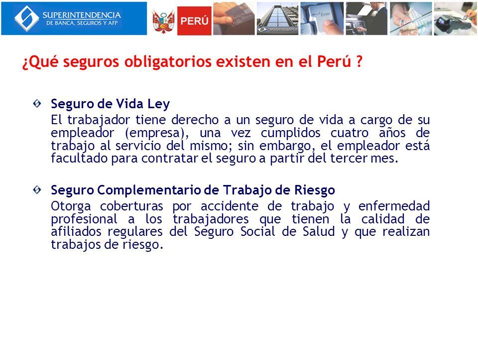 ¿Qué seguros obligatorios existen en el Perú