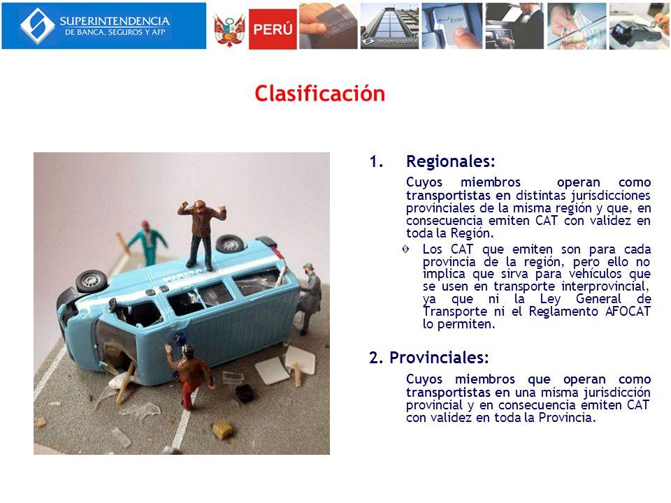Clasificación Regionales: