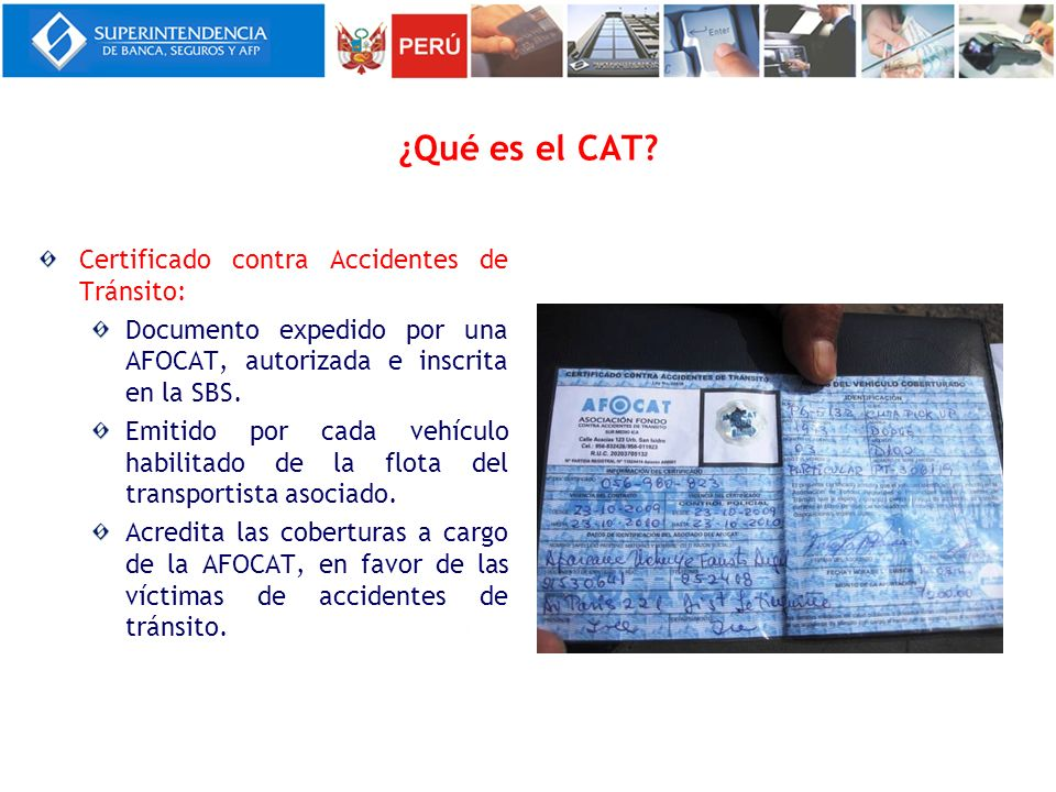 ¿Qué es el CAT Certificado contra Accidentes de Tránsito: