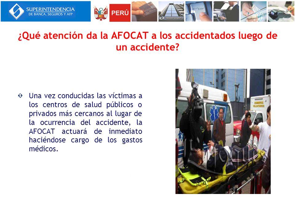 ¿Qué atención da la AFOCAT a los accidentados luego de un accidente