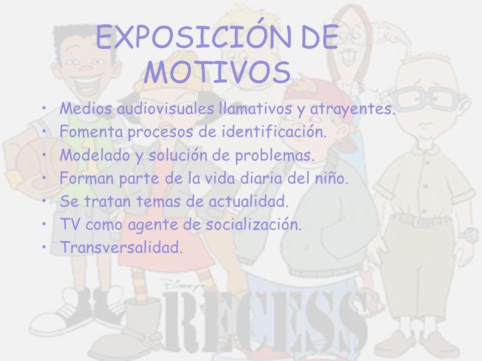 EXPOSICIÓN DE MOTIVOS Medios audiovisuales llamativos y atrayentes.