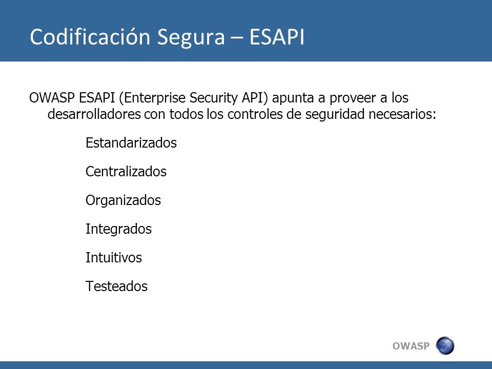 Codificación Segura – ESAPI
