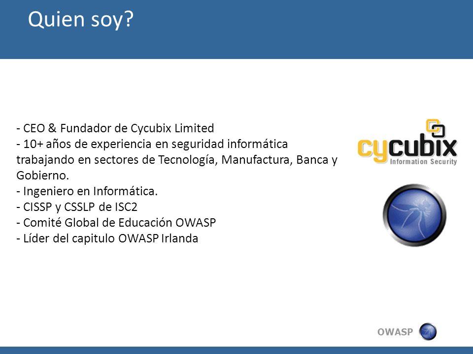 Quien soy CEO & Fundador de Cycubix Limited
