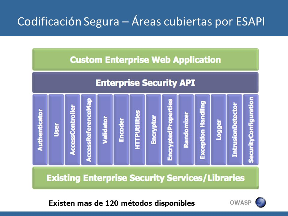 Codificación Segura – Áreas cubiertas por ESAPI