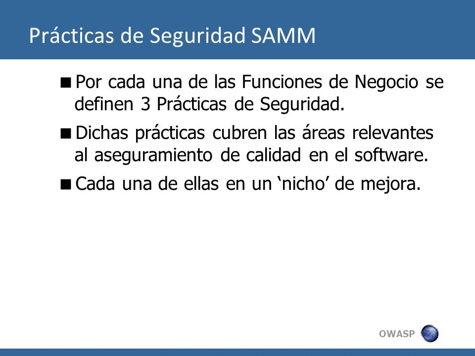 Prácticas de Seguridad SAMM