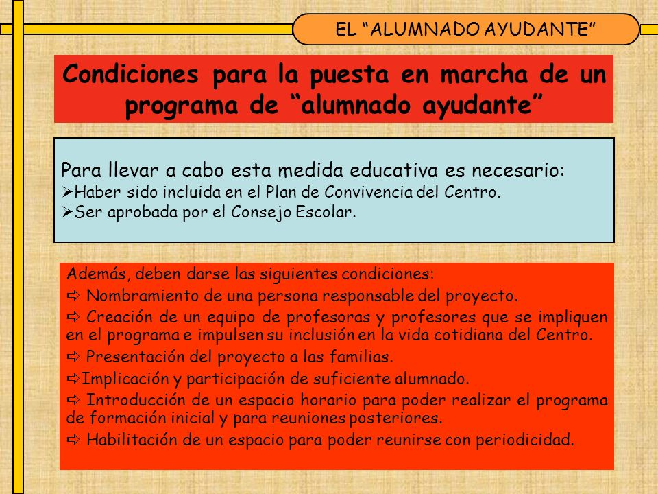 EL ALUMNADO AYUDANTE