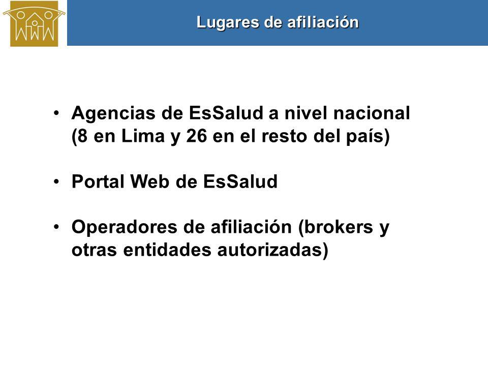 Operadores de afiliación (brokers y otras entidades autorizadas)
