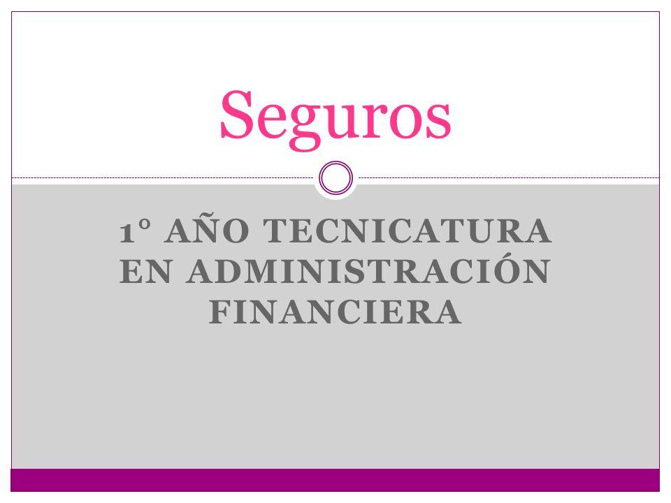 1° año Tecnicatura en Administración Financiera