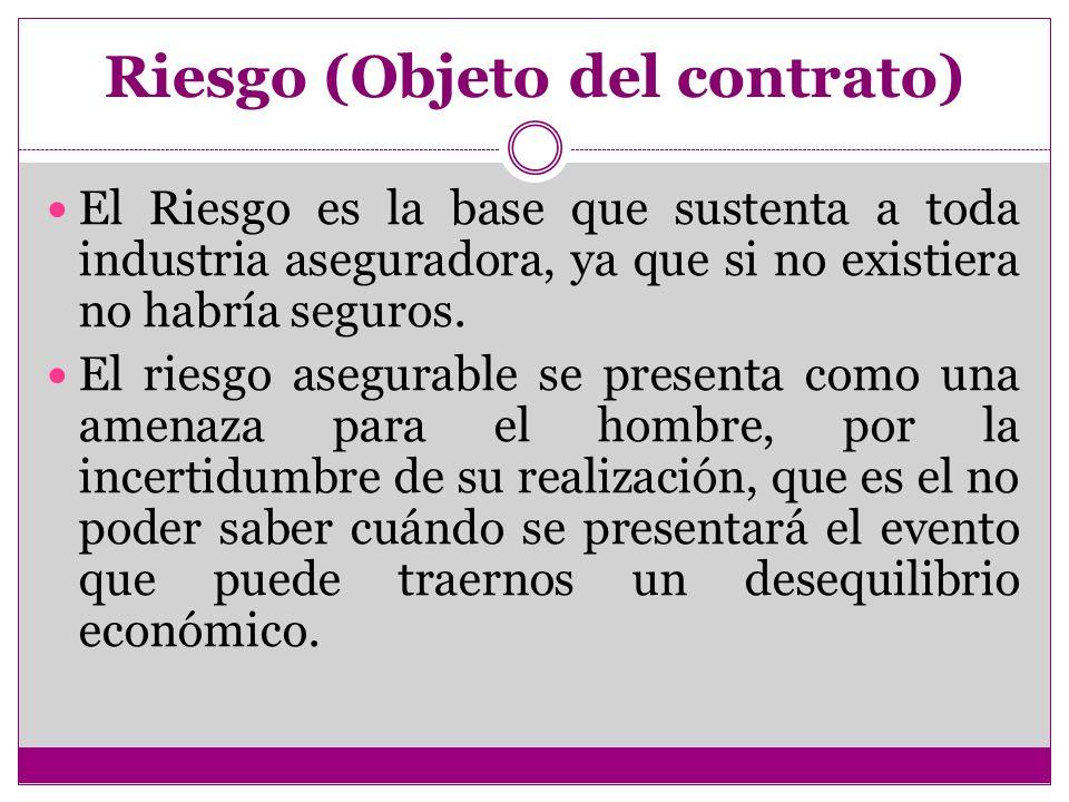 Riesgo (Objeto del contrato)