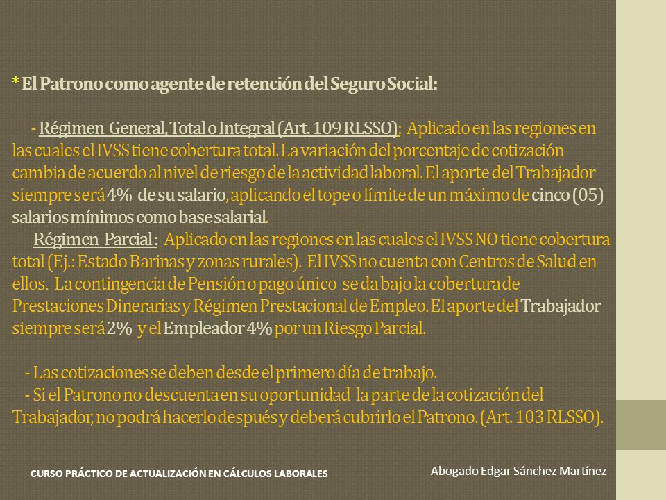 CURSO PRÁCTICO DE ACTUALIZACIÓN EN CÁLCULOS LABORALES