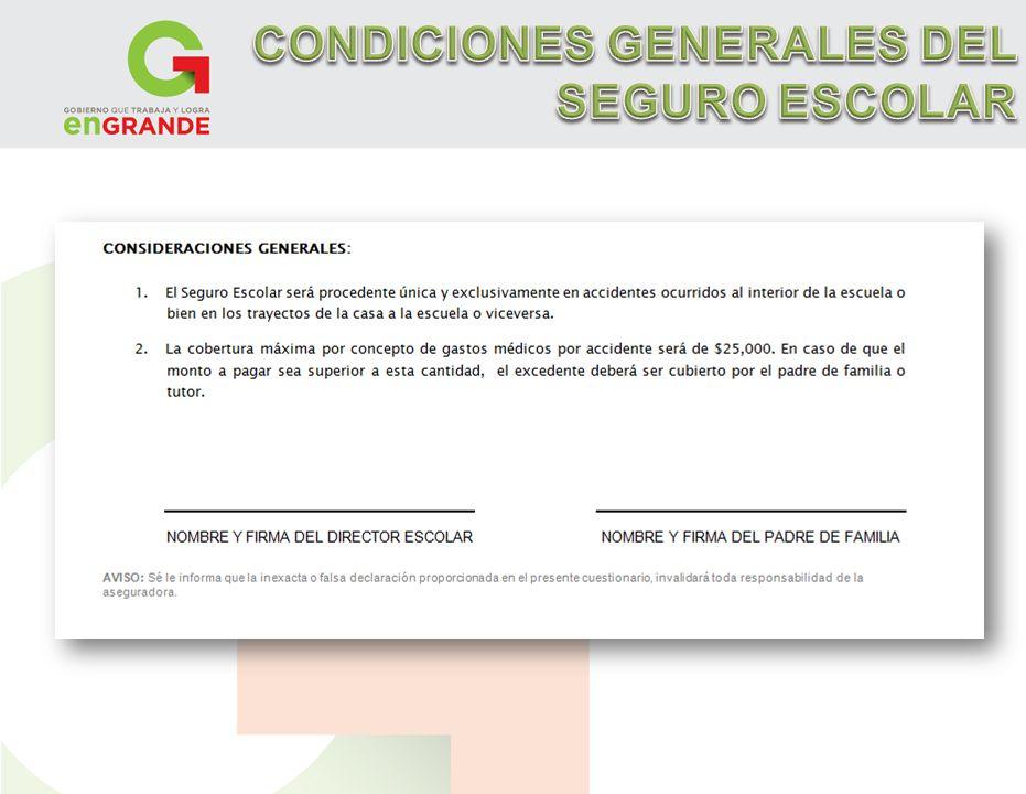 CONDICIONES GENERALES DEL SEGURO ESCOLAR