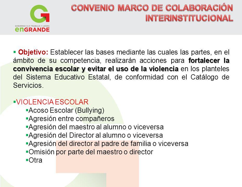 CONVENIO MARCO DE COLABORACIÓN INTERINSTITUCIONAL