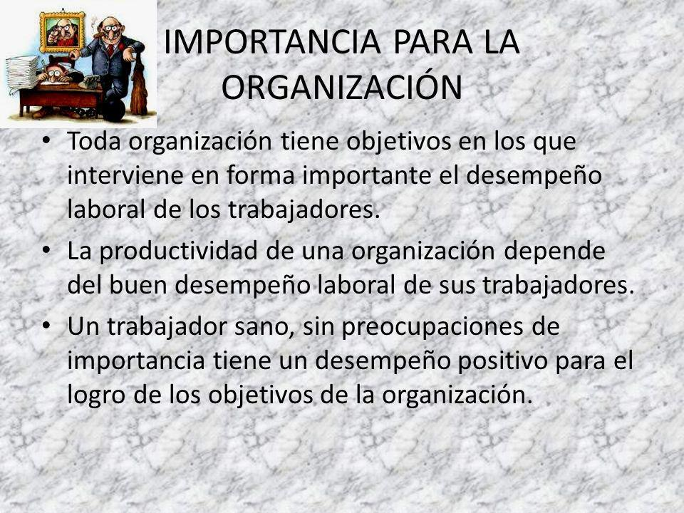 IMPORTANCIA PARA LA ORGANIZACIÓN