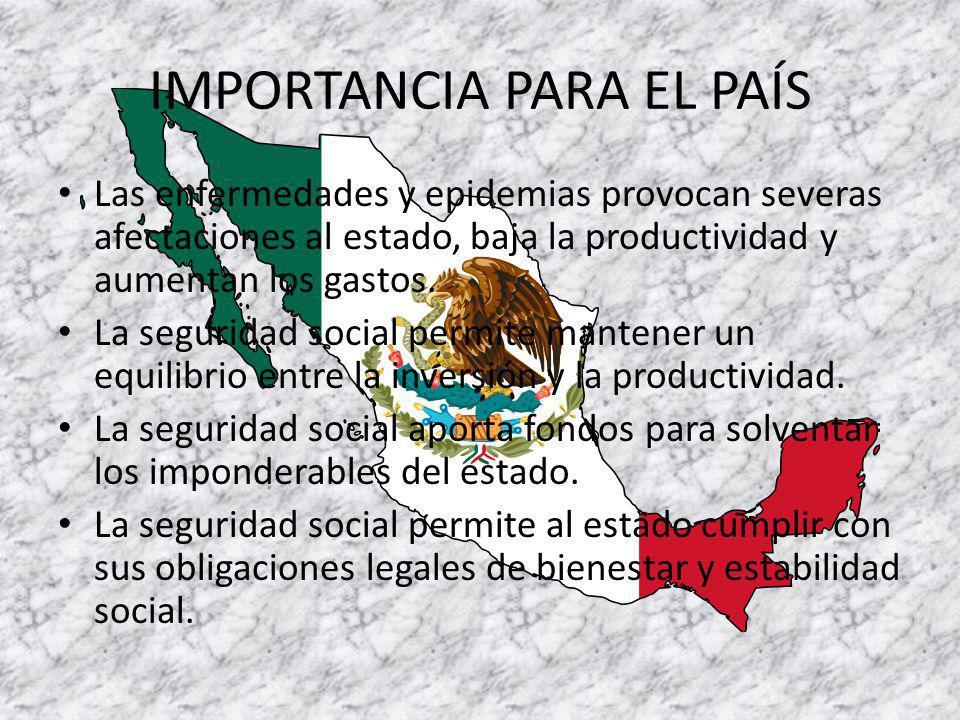 IMPORTANCIA PARA EL PAÍS
