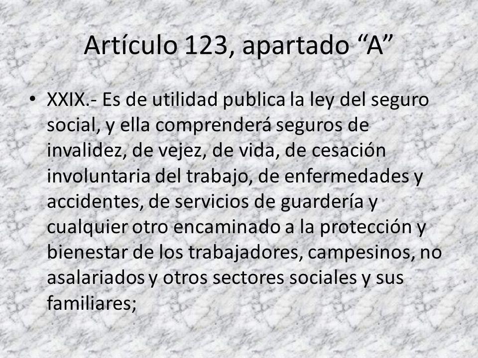 Artículo 123, apartado A