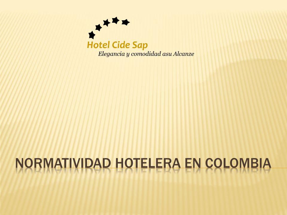 Normatividad Hotelera en Colombia
