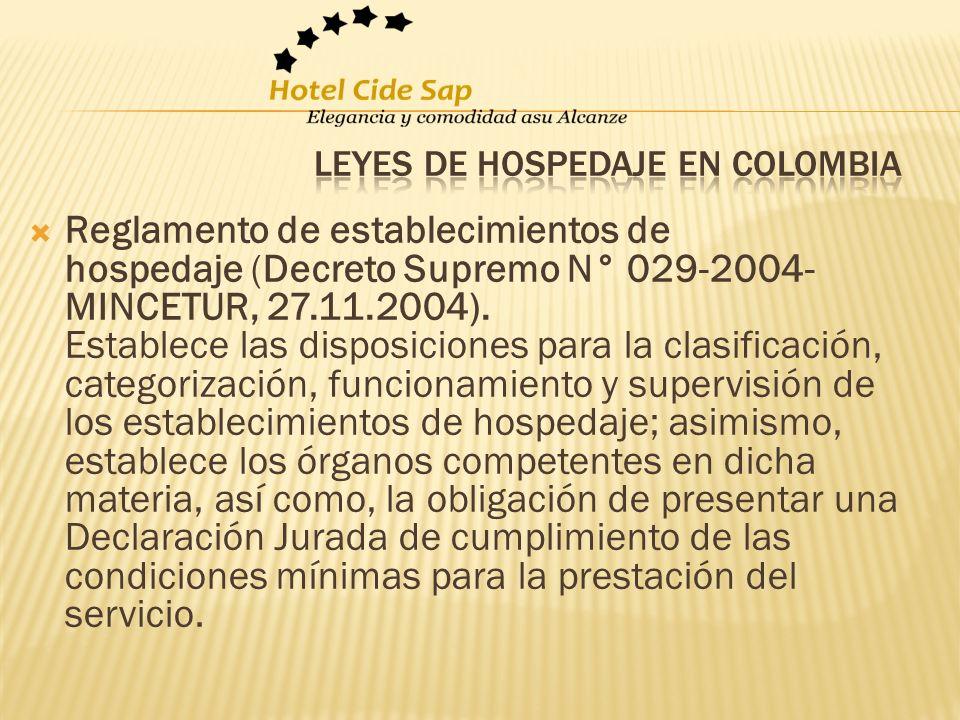 Leyes de hospedaje en Colombia