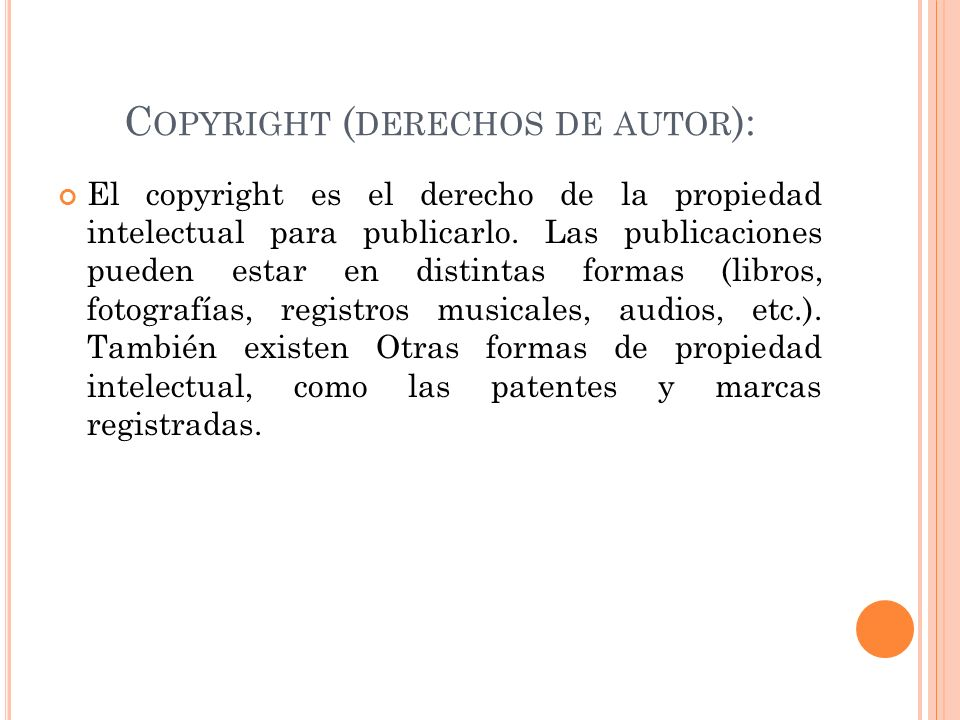 Copyright (derechos de autor):