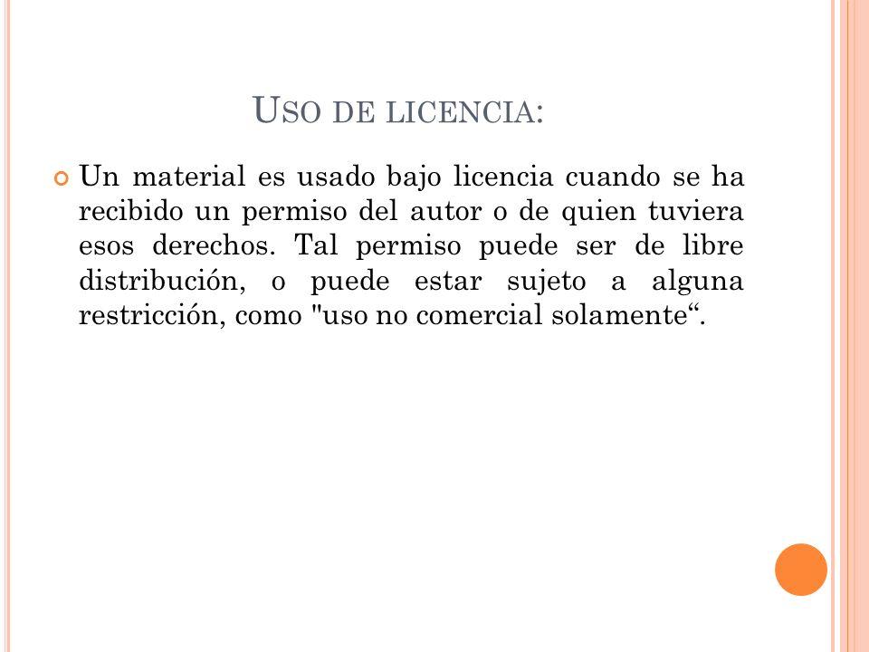 Uso de licencia: