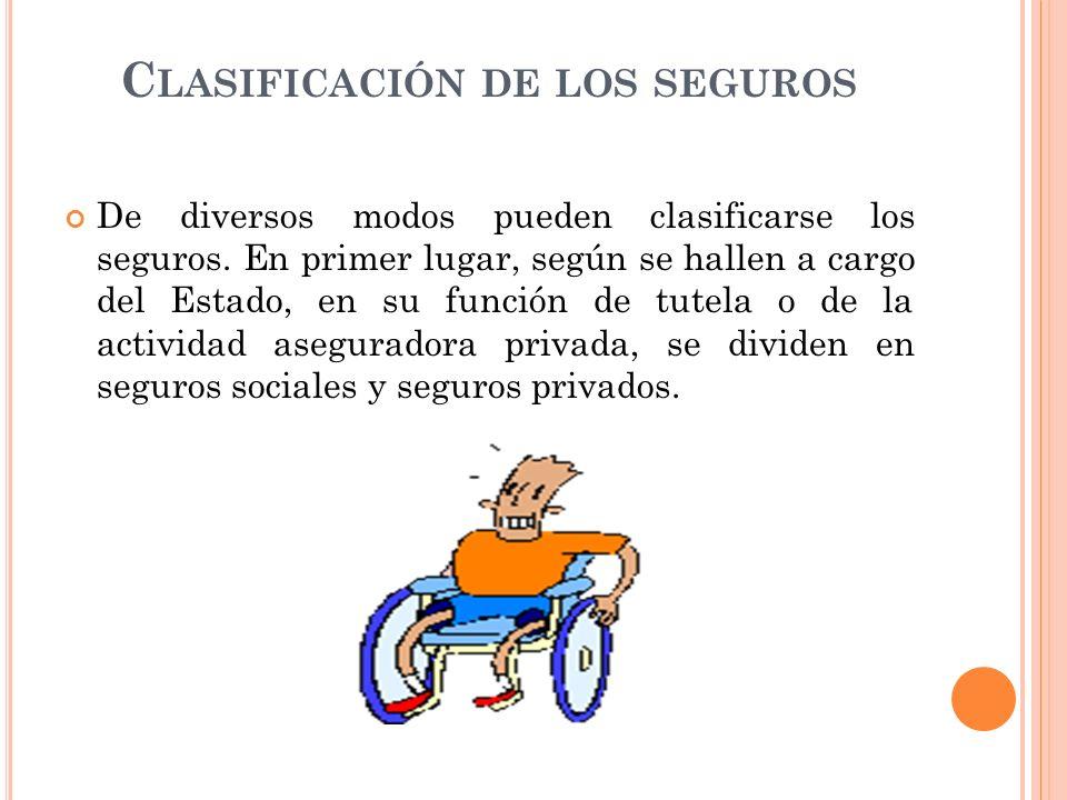 Clasificación de los seguros