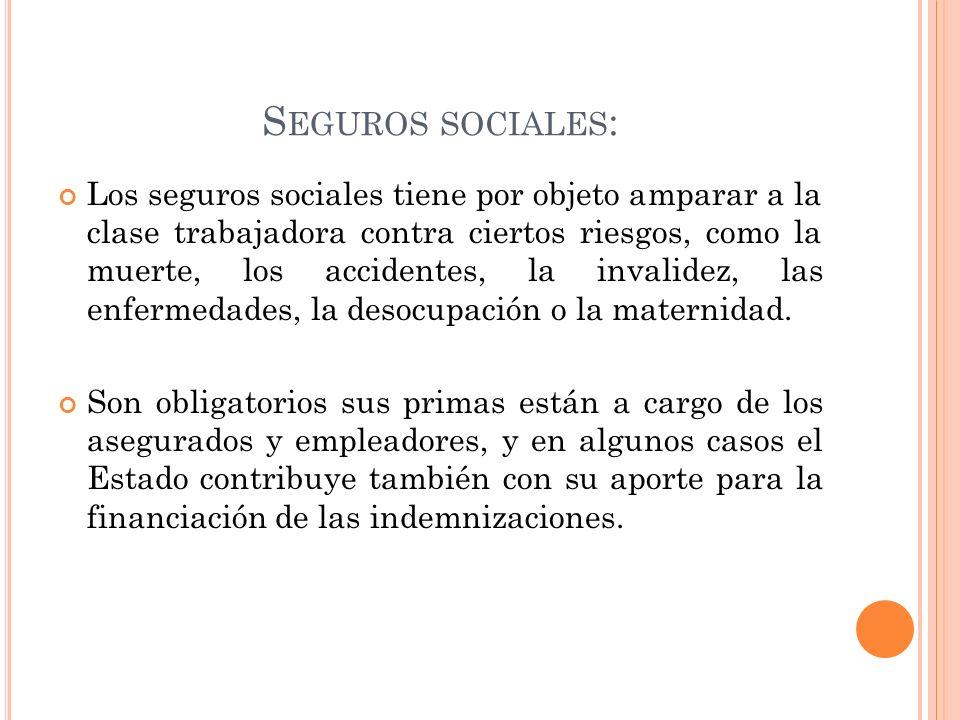 Seguros sociales:
