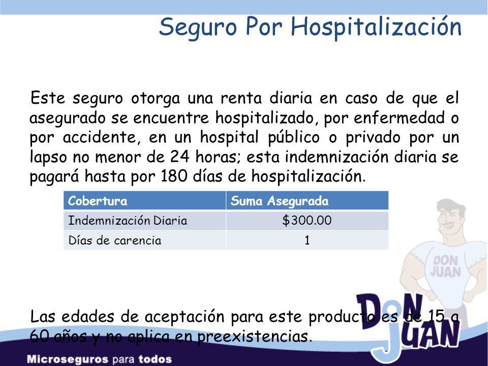 Seguro Por Hospitalización Diaria